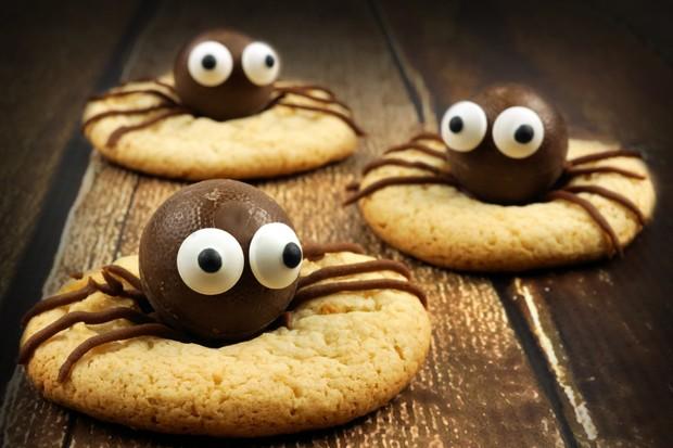 Schokoladen-Spinnen-Kekse