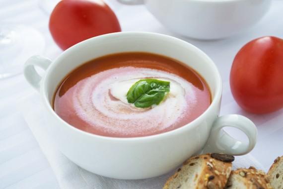 Würzige Tomatencremesuppe