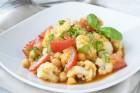 Kichererbsen-Salat mit Karfiol