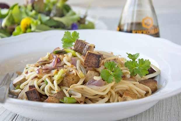 Tofu-Nudel-Pfanne