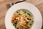 Risotto mit Erbsen und Shrimps
