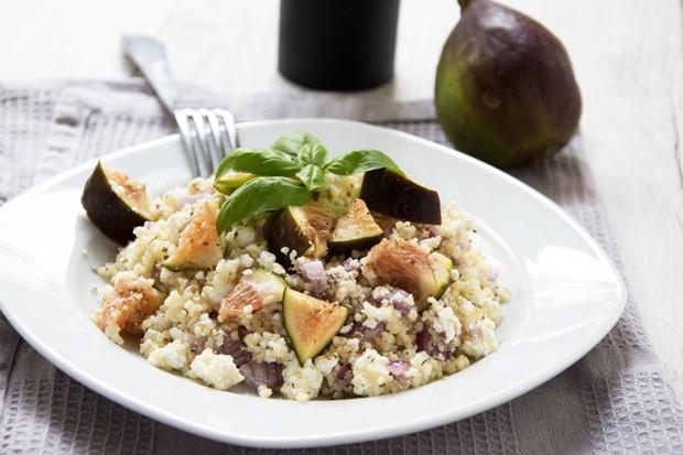 Couscous - Salat mit Feigen und Ziegenkäse