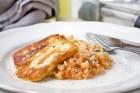 Zucchini-Risotto mit Halloumi