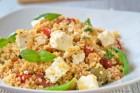 Tag 32: Couscous-Salat mit Schafskäse