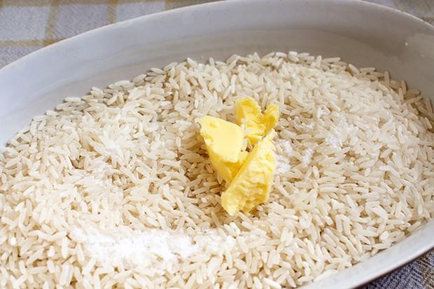 Reis in Auflaufform