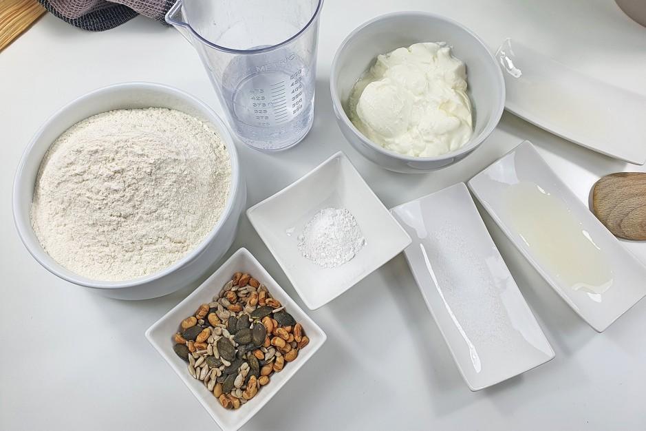 Zutaten für Brot ohne Germ