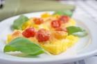 Polentaschnitten mit Tomaten überbacken