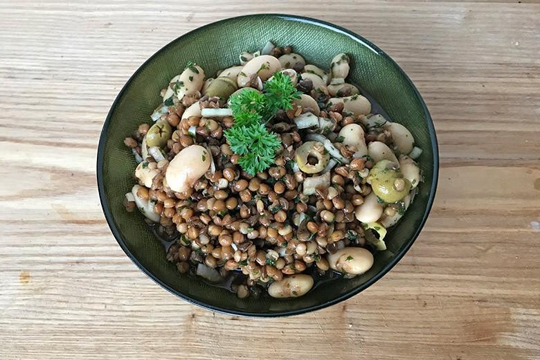 Linsen-Bohnen-Salat