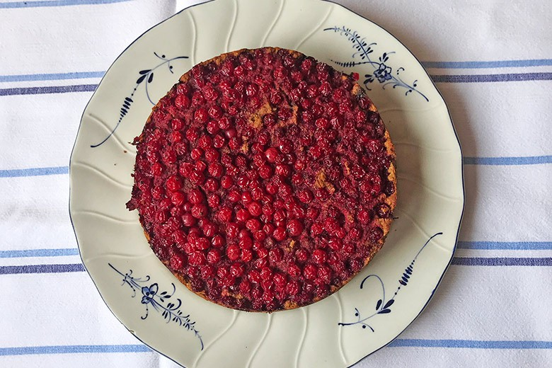 Kokos - Johannisbeer - Kuchen