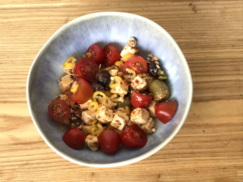 Griechischer Hirtensalat pikant