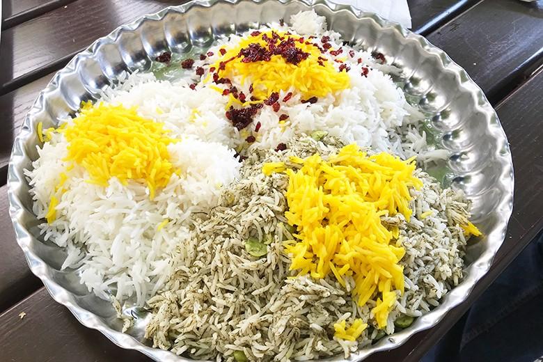 Persische Reisplatte