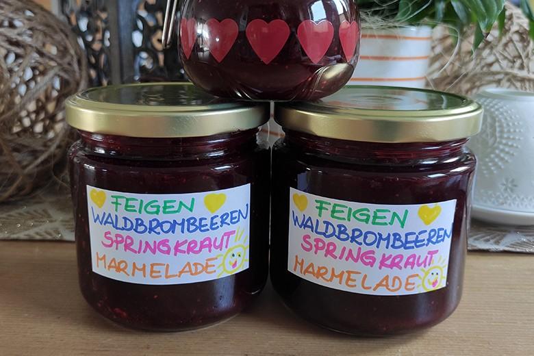 Feigen Brombeeren Springkraut Marmelade