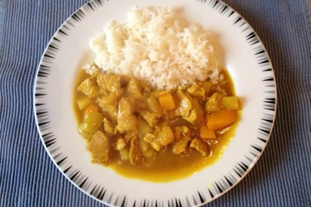 Fernöstliches Currygeschnetzeltes