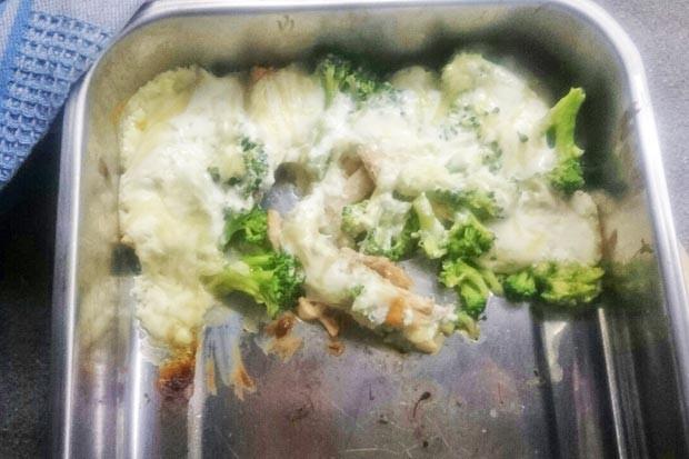 Fisch mit Broccoli überbacken