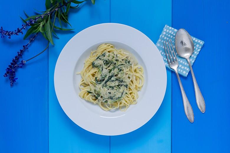 Spaghetti al gorgonzola