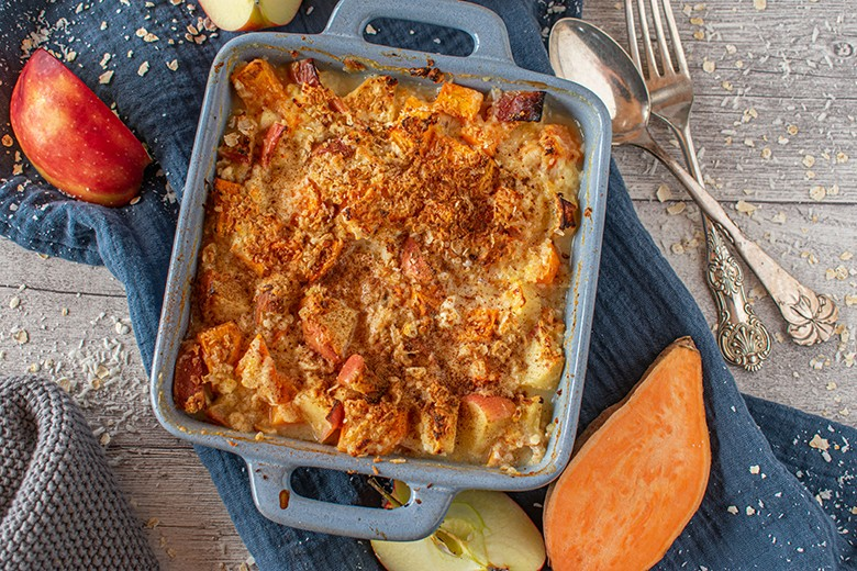 Süßkartoffel-Apfelkuchen