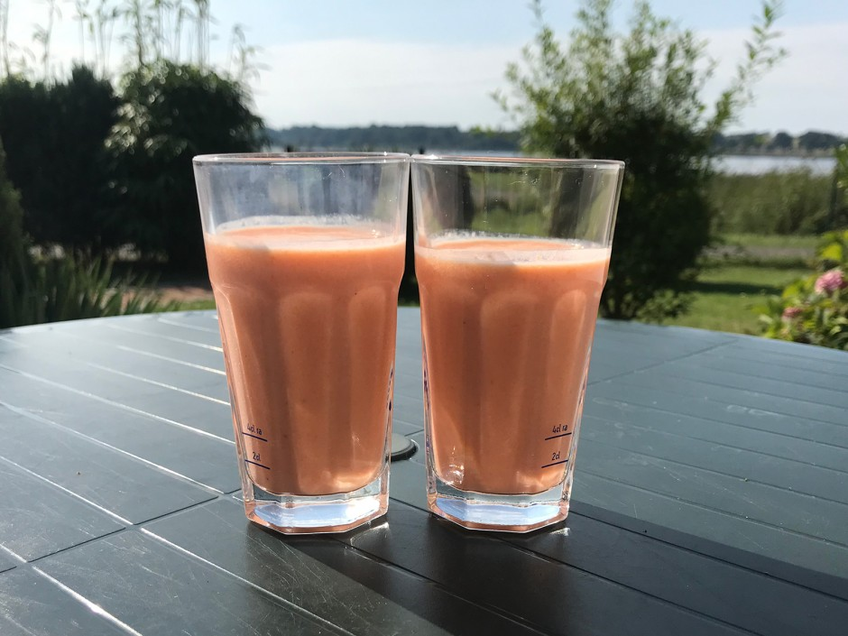 Karotten-Bananen-Milch