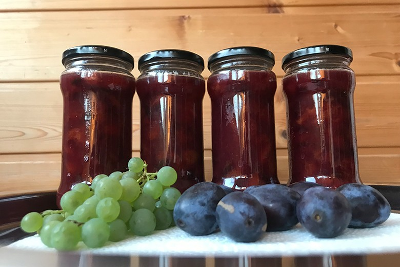 Weintrauben-Zwetschgen-Marmelade