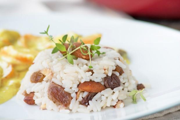 Rosinen Mandel Reis