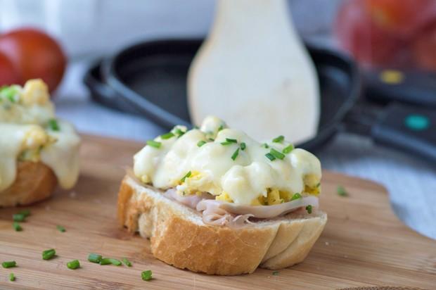 Schinken-Eier Raclette