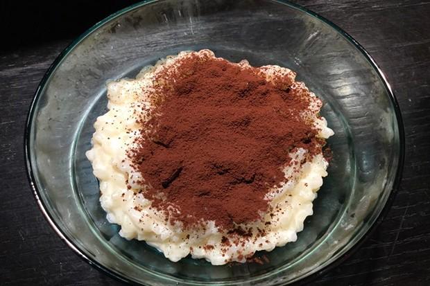 Kakao auf Milchreis