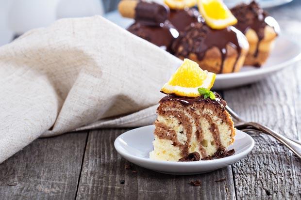 Marmorkuchen mit Orangengeschmack