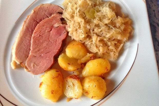 Geselchtes mit Sauerkraut