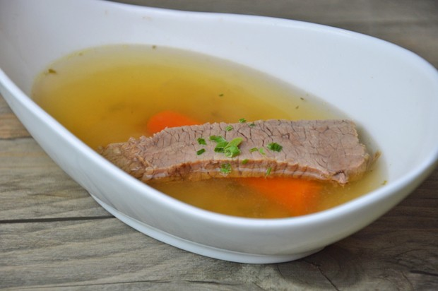 Rindknochensuppe