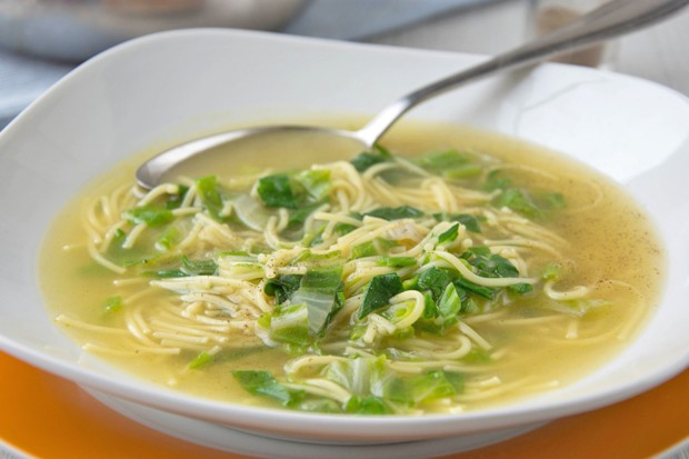Mangold Nudelsuppe