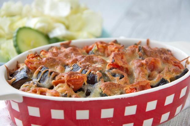 Zucchini-Melanzani-Auflauf