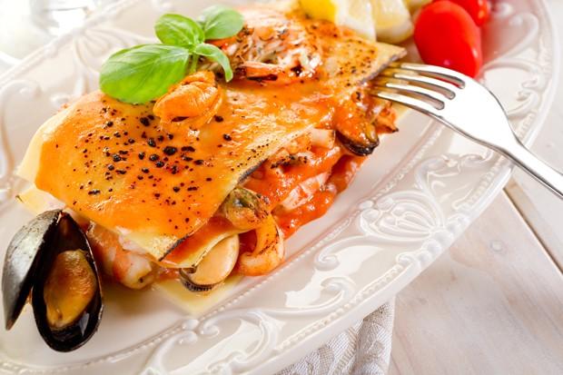 Lasagne mit Meeresfrüchten