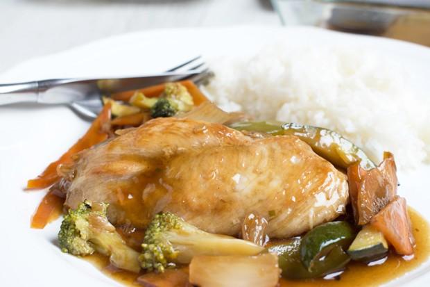 Hühnerfleisch in Satay Sauce