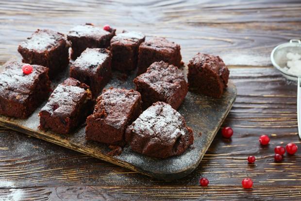 Vegane Cranberry-Brownies