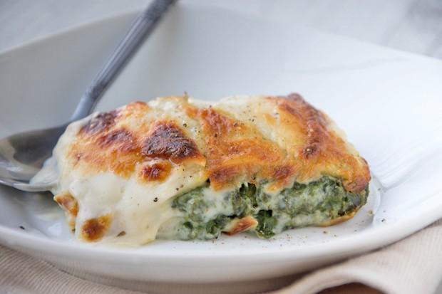 Lasagne mit Spinat und Karotten