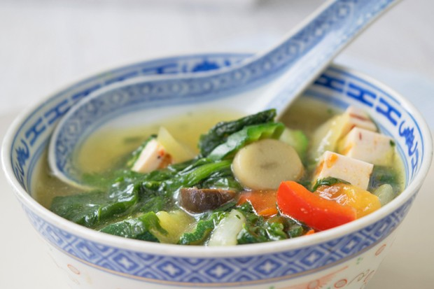 Vegane China-Suppe