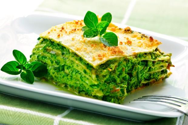 Vegetarische Spinatlasagne