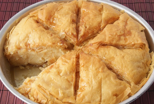 Galaktoboureko-Kuchen