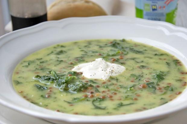 Linsen- Spinat- Cumin Suppe