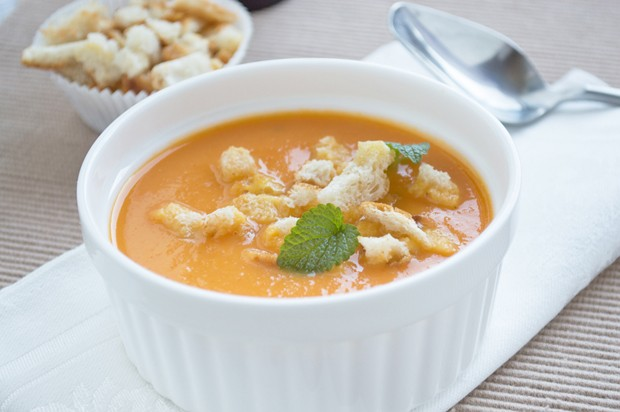 Süßkartoffel-Birnen-Suppe