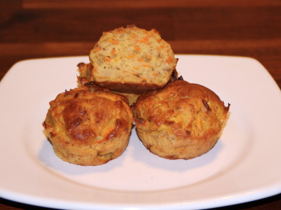 Apfel-Karotten-Kokos-Muffins