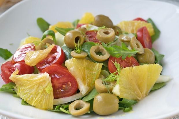 Rucola-Orangen-Fenchel Salat
