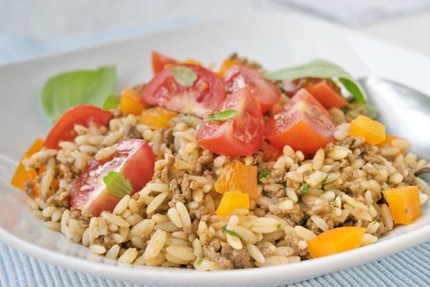 Kritharaki-Hackfleisch-Salat