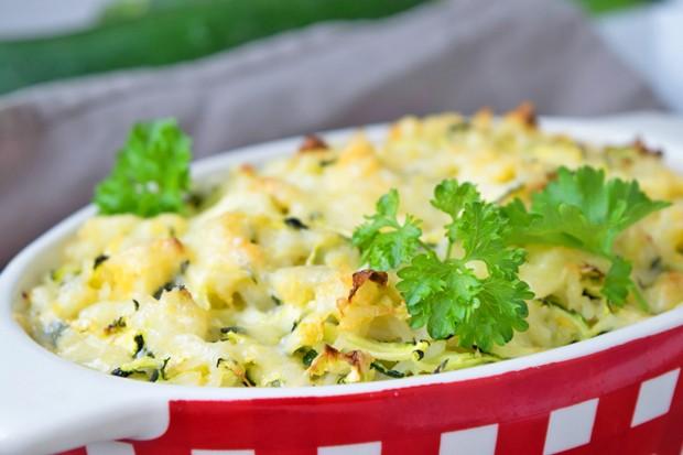 Zucchini-Reis-Auflauf
