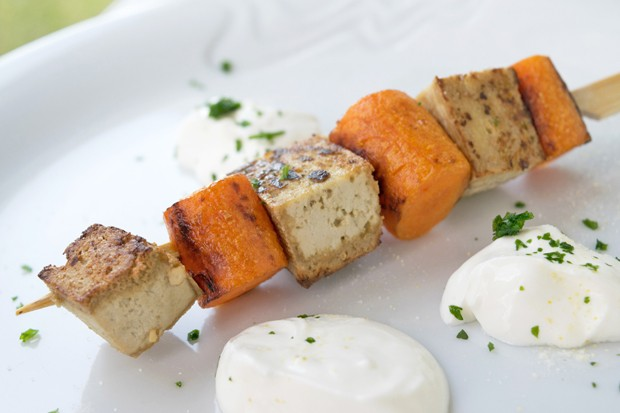Tofu-Karotten-Spieße