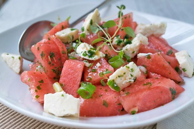 Salat mit Wassermelonen