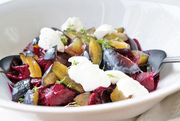 Rüben-Zwetschken-Salat