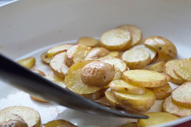 Rohgeröstete Kartoffel