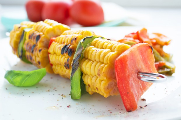 Paprika-Mais-Spieße