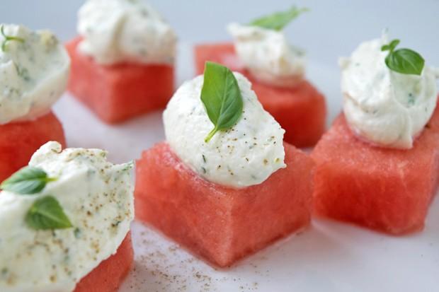 Melone mit Ricotta