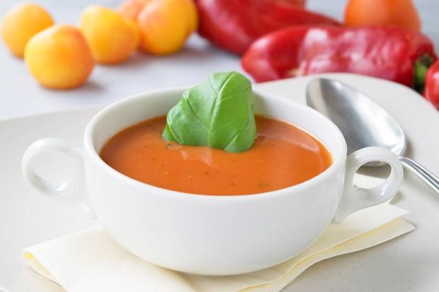 Paprika-Marillen-Suppe